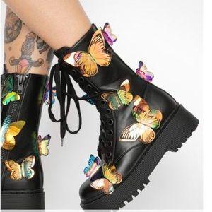 Dolls kill butterfly boots